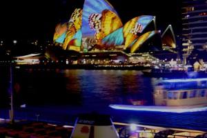Butterflies Opera House Vivid 2014
